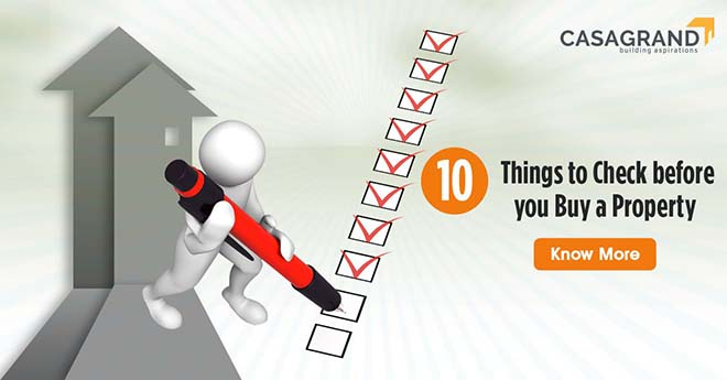 10 Things to check before you buy a property