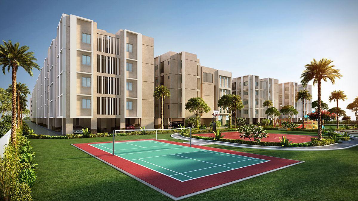 Badminton Court View