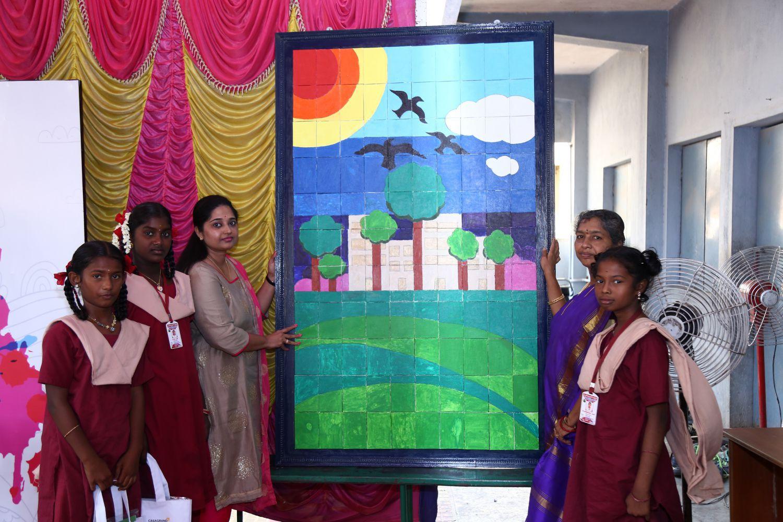 Casagrand Builder distributed Arts & Crafts materials to 100 govt. school studen