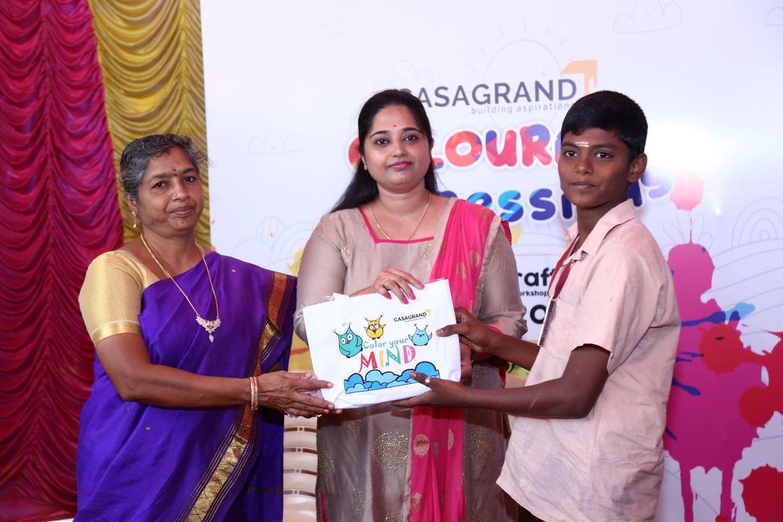 Casagrand Builder distributed Arts & Crafts materials to 100 govt. school student