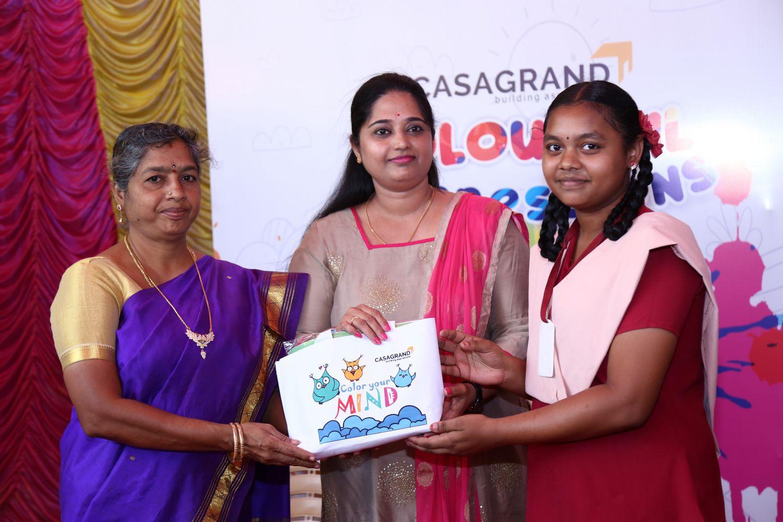 Casagrand Builder distributed Arts & Crafts materials to 100 govt. school students