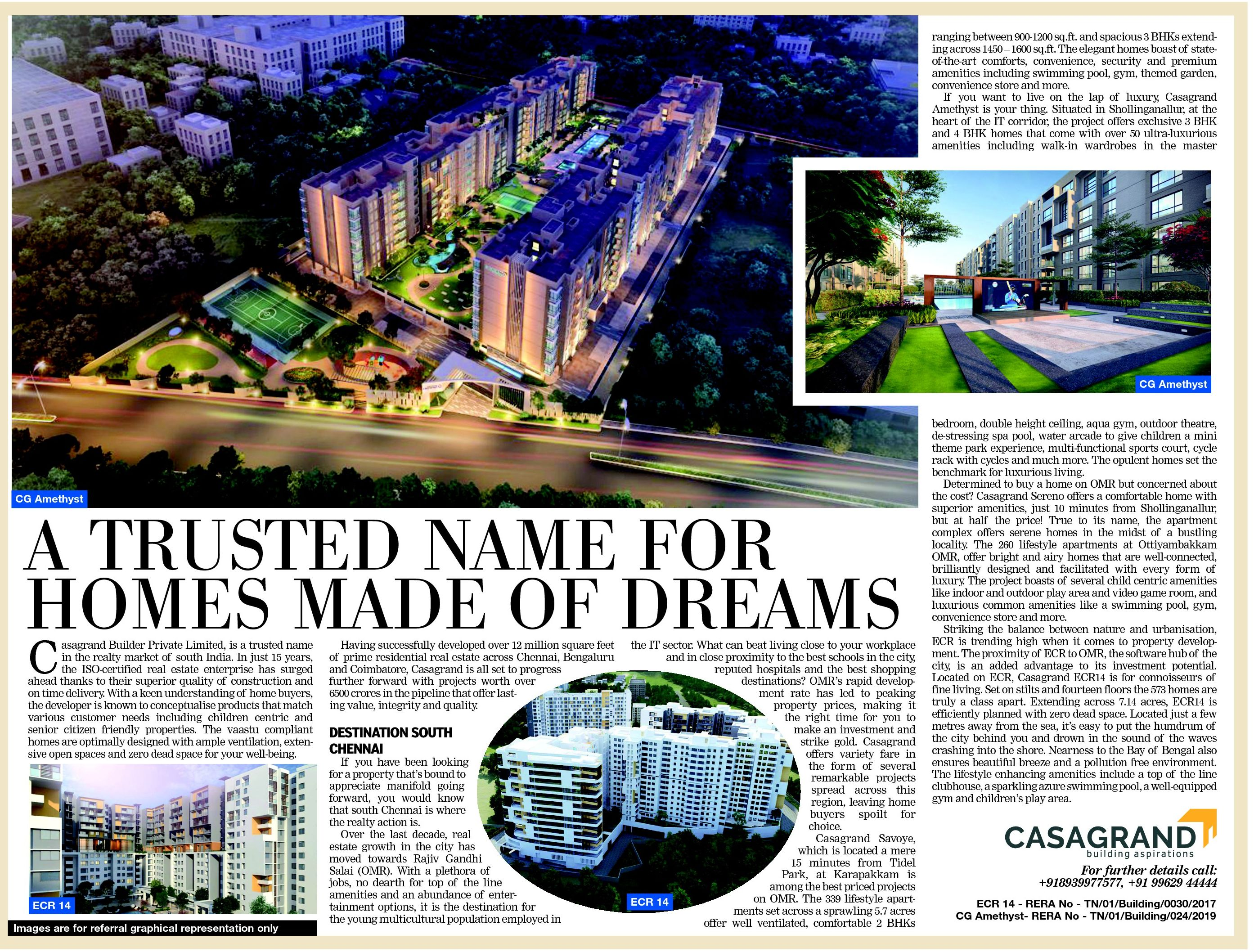 Press Releases by Casagrand - A Leading Real Estate Developer