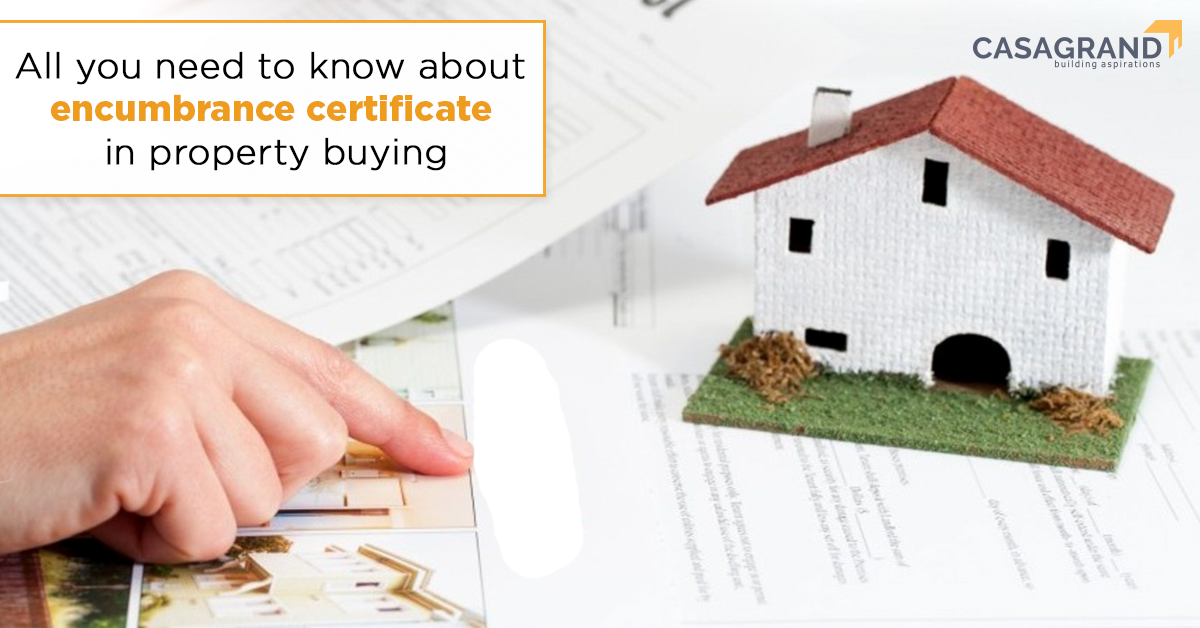 encumbrance certificate in property buying