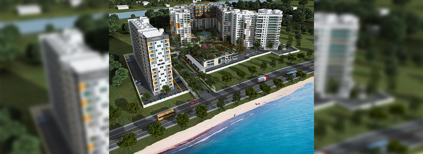 2 BHK Flat Day Aerial View - Casagrand ECR 14