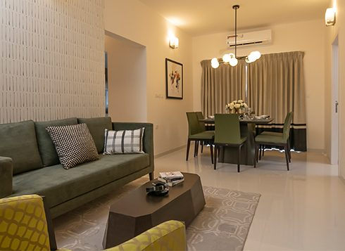 Casagrand First City - 2 BHK Living & Dining View