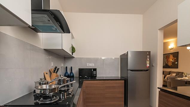 3 BHK - Kitchen