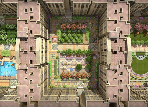 Casagrand First City Amenities - Podium Top Angle View