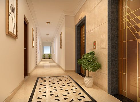 Casagrand First City Amenities - Lift Lobby View
