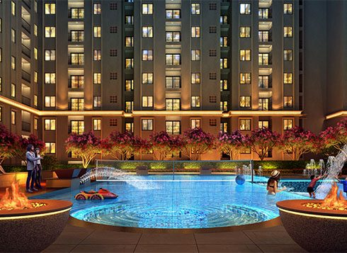 Casagrand First City Amenities - Fire Camp Swimming Pool View