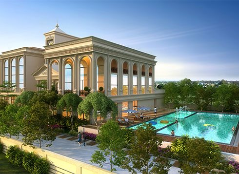 Casagrand First City Amenities - Clubhouse Swimming Pool View