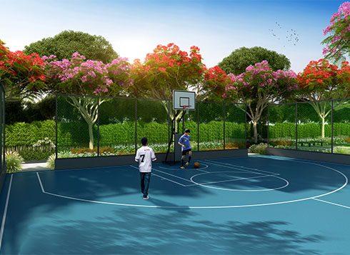 Casagrand First City Amenities - Basket Ball Court View