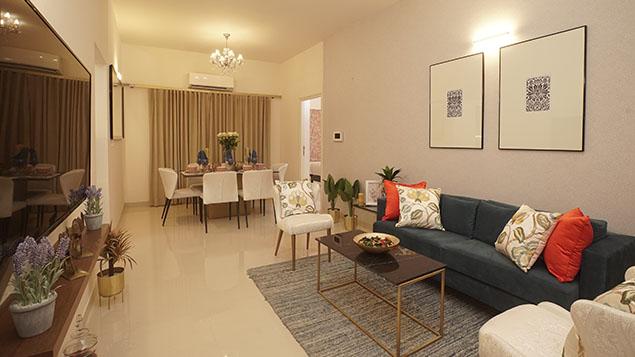 3 BHK Living Room