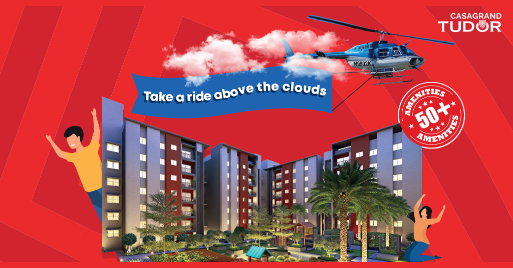 Experience the grandeur of Casagrand Tudor's locality from the skies!
