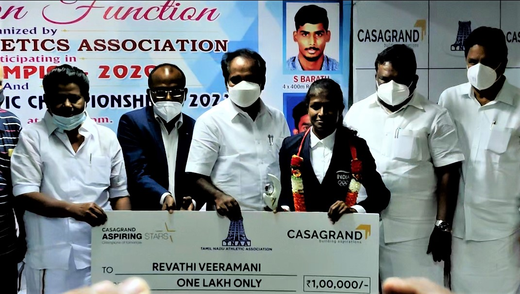 CASAGRAND in Association with Tamil Nadu Athletic Association Honors the Olympians of Tamil Nadu 3